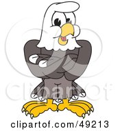 Royalty Free RF Clipart Illustration Of A Bald Eagle Character With His Arms Crossed