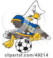 Bald Eagle Character Soccer Player