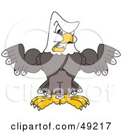 Royalty Free RF Clipart Illustration Of A Bald Eagle Character Flexing Muscles
