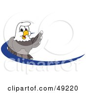 Royalty Free RF Clipart Illustration Of A Bald Eagle Character Dash Logo by Toons4Biz