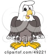 Royalty Free RF Clipart Illustration Of A Bald Eagle Character by Toons4Biz