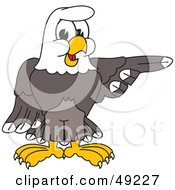 Royalty Free RF Clipart Illustration Of A Bald Eagle Character Pointing by Toons4Biz