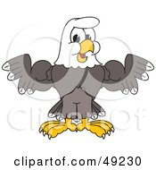 Royalty Free RF Clipart Illustration Of A Bald Eagle Character Shrugging Or Flexing by Toons4Biz