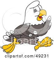 Royalty Free RF Clipart Illustration Of A Bald Eagle Character Running by Toons4Biz