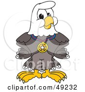 Royalty Free RF Clipart Illustration Of A Bald Eagle Character Wearing A Medal by Toons4Biz
