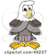 Royalty Free RF Clipart Illustration Of A Bald Eagle Character Smiling by Toons4Biz