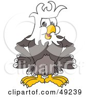 Royalty Free RF Clipart Illustration Of A Bald Eagle Character With Messy Hair by Toons4Biz