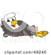 Royalty Free RF Clipart Illustration Of A Bald Eagle Character Reclined by Toons4Biz