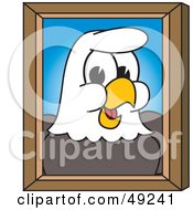 Royalty Free RF Clipart Illustration Of A Bald Eagle Character Portrait by Toons4Biz