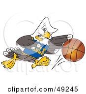 Bald Eagle Character Basketball Player