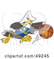Royalty Free RF Clipart Illustration Of A Bald Eagle Character Basketball Player by Toons4Biz