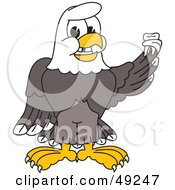Royalty Free RF Clipart Illustration Of A Bald Eagle Character Holding A Tooth by Toons4Biz