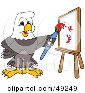 Royalty Free RF Clipart Illustration Of A Bald Eagle Character Painting