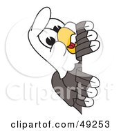 Royalty Free RF Clipart Illustration Of A Bald Eagle Character Peeking by Toons4Biz