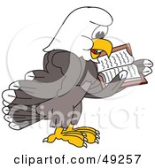 Royalty Free RF Clipart Illustration Of A Bald Eagle Character Reading by Toons4Biz