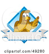 Royalty Free RF Clipart Illustration Of A Hawk Mascot Character Diamond Logo