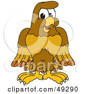 Royalty Free RF Clipart Illustration Of A Hawk Mascot Character by Toons4Biz