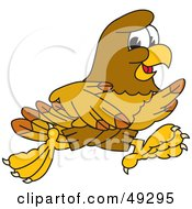 Royalty Free RF Clipart Illustration Of A Hawk Mascot Character Running