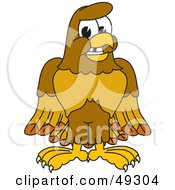 Royalty Free RF Clipart Illustration Of A Hawk Mascot Character With A Missing Tooth