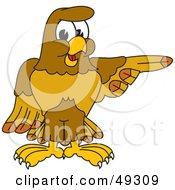 Royalty Free RF Clipart Illustration Of A Hawk Mascot Character Pointing