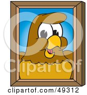 Royalty Free RF Clipart Illustration Of A Hawk Mascot Character Portrait