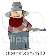 Angry Farmer With A Shotgun Clipart