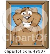 Cougar Mascot Character Portrait
