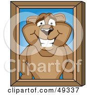 Royalty Free RF Clipart Illustration Of A Cougar Mascot Character Portrait by Toons4Biz