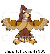 Royalty Free RF Clipart Illustration Of A Falcon Mascot Character Flexing