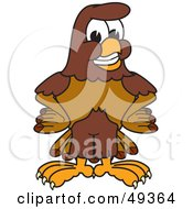 Royalty Free RF Clipart Illustration Of A Falcon Mascot Character With His Hands On His Hips