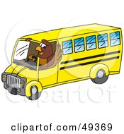 Royalty Free RF Clipart Illustration Of A Falcon Mascot Character Bus Driver