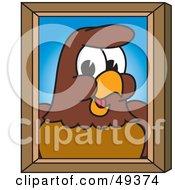 Falcon Mascot Character Portrait