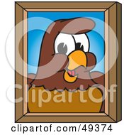 Royalty Free RF Clipart Illustration Of A Falcon Mascot Character Portrait