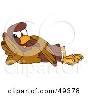Falcon Mascot Character Reclined by Toons4Biz