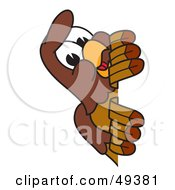 Royalty Free RF Clipart Illustration Of A Falcon Mascot Character Peeking
