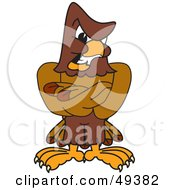 Royalty Free RF Clipart Illustration Of A Falcon Mascot Character With An Angry Expression