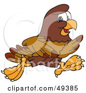 Royalty Free RF Clipart Illustration Of A Falcon Mascot Character Running