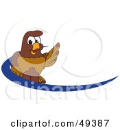 Royalty Free RF Clipart Illustration Of A Falcon Mascot Character Dash Logo by Toons4Biz