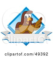 Royalty Free RF Clipart Illustration Of A Falcon Mascot Character Diamond Logo