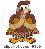 Royalty Free RF Clipart Illustration Of A Falcon Mascot Character