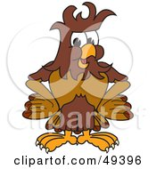 Royalty Free RF Clipart Illustration Of A Falcon Mascot Character With Messy Hair by Toons4Biz