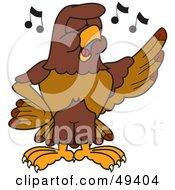 Falcon Mascot Character Singing