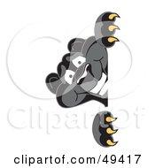 Black Jaguar Mascot Character Peeking