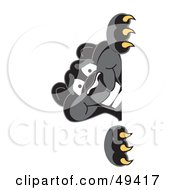 Royalty Free RF Clipart Illustration Of A Black Jaguar Mascot Character Peeking