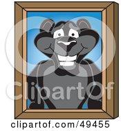 Black Jaguar Mascot Character Portrait