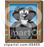 Royalty Free RF Clipart Illustration Of A Black Jaguar Mascot Character Portrait by Toons4Biz