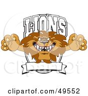 Royalty Free RF Clipart Illustration Of A Lion Character Mascot Logo by Toons4Biz