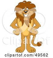 Royalty Free RF Clipart Illustration Of A Lion Character Mascot