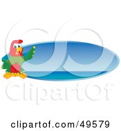 Royalty Free RF Clipart Illustration Of A Macaw Parrot Character Mascot Blue Sea Logo by Toons4Biz