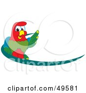 Royalty Free RF Clipart Illustration Of A Macaw Parrot Character Mascot Dash Logo by Toons4Biz